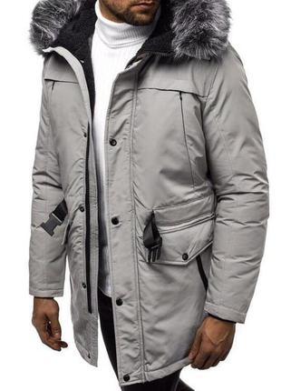 Стильная мужская парка куртка пуховик очень теплая