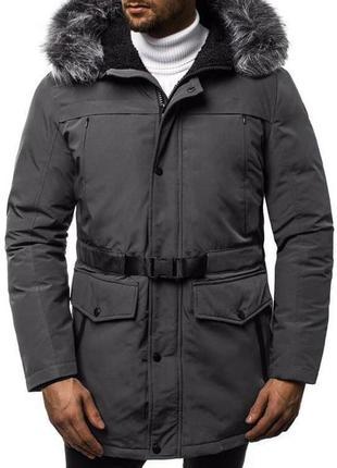 Топовая мужская парка куртка пуховик очень теплая