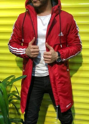 Топовая мужская зимняя парка куртка с капюшоном adidas