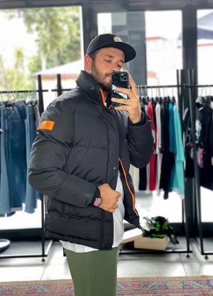 Топовая мужская зимняя куртка пуховик черный
