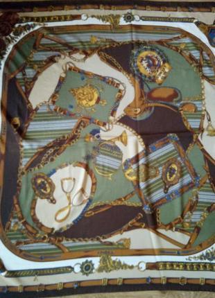 Красивый большой шелковый платок loredano италия