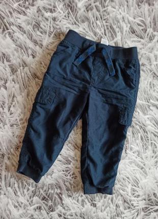Детские штаны на мальчика, классные штаны темно-синие