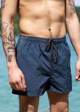 Темно-серые пляжные шорты мужские синие плавки для плаванья