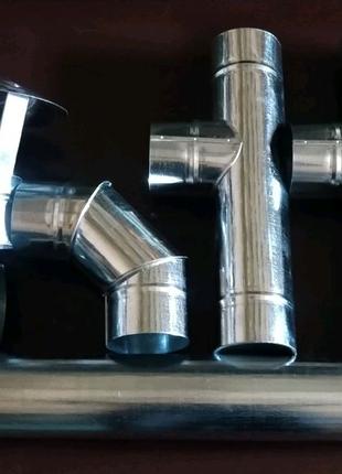 Изделия из оцинкованной стали 0.5, от 80 до 300 диаметра.