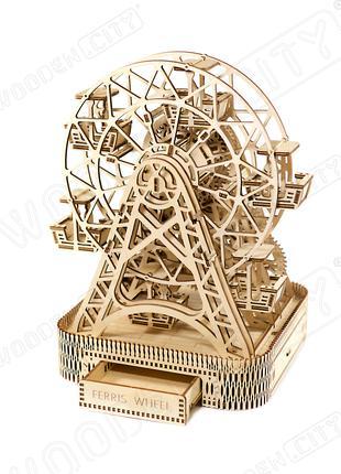 """Деревянная 3D модель """"Wooden city"""" Колесо обозрения"""