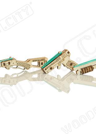 """Деревянная 3D модель """"Wooden city"""" Механический брелок"""