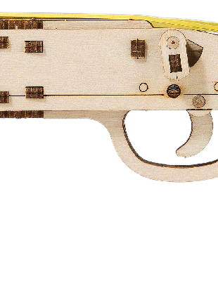"""Деревянная 3D модель """"Wooden city"""" Ружьё Judgment Day RMT-870"""