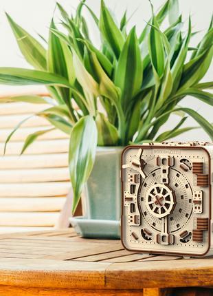 """Деревянная 3D модель """"Wooden city"""" Сейф"""