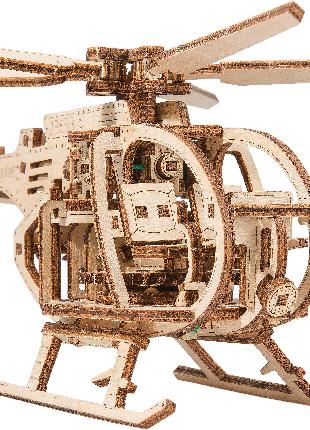 """Деревянная 3D модель """"Wooden city"""" Вертолет"""