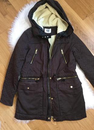 Жеская куртка парка, курточка на овчине, женская курточка