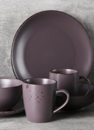 Столовый сервіз набір ardesto lucca grey brown
