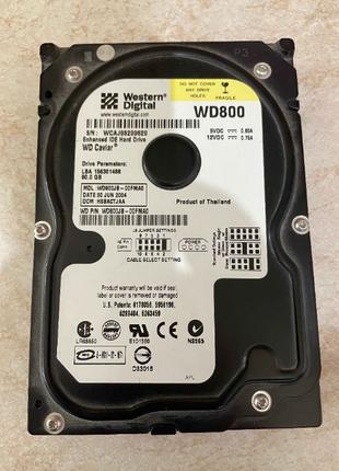 Жесткий диск HDD IDE 80GB