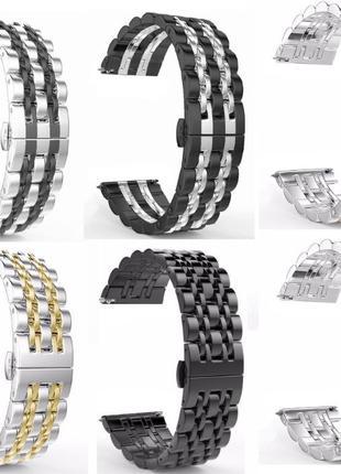 Браслет бабочка 20мм 22мм нержавейка Samsung Gear Galaxy Watch...