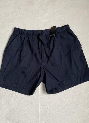 Темно синие хлопковые шорты livergy  для дома и сна