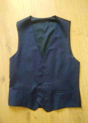 Турецький чоловічий жилет efor/ синій костюмний  жилет/жилетка