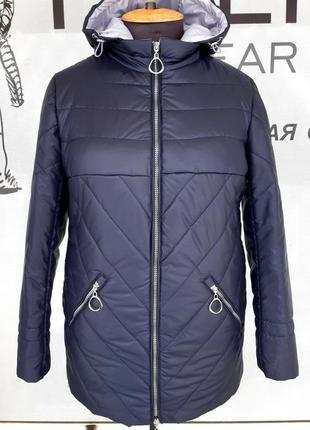 Женская стильная куртка на весну,больших размеров  52-62
