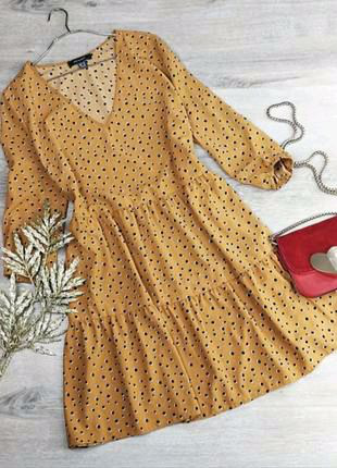 Ярусное платье с горошечным принтом Primark