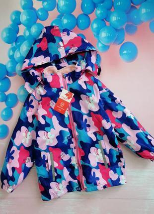 Детская куртка + флиска на девочку