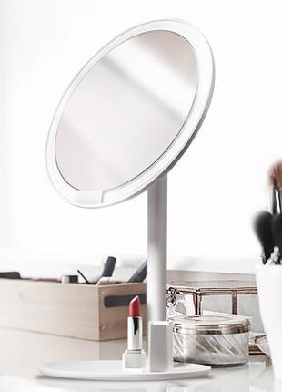 Зеркало для макияжа Xiaomi Amiro AML004S портативное на АКБ