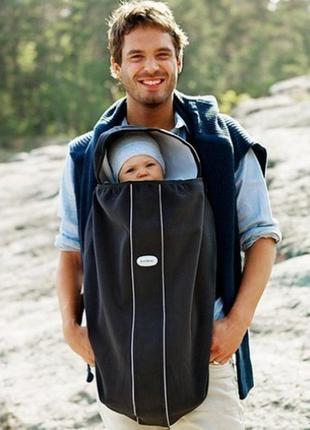 Флисовая накидка-чехол на рюкзак-переноску babybjorn
