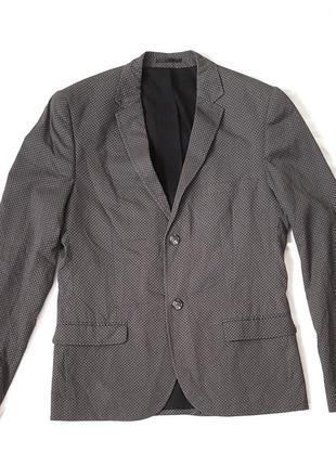 Мужской блейзер пиджак в горошек