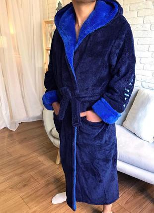 Стильный мужкой махровый халат sport , размер 48/62