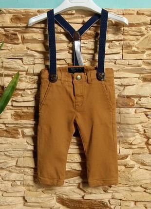 Утепленные штаны/брюки на подтяжках mayoral (испания) на 6 мес...