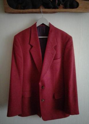 Шикарный шерстяной пиджак блейзер
