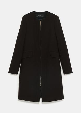 Легкое пальто пиджак кардиган на молнии с карманами