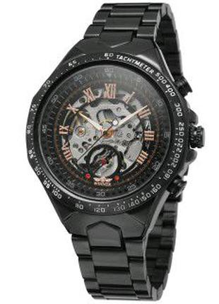 Мужские наручные часы Winner 8067 Black-Silver-Red Cristal