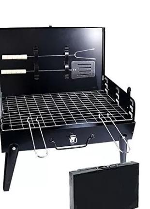 Розкладний мангал-чемодан туристичний гриль складаний гриль валіз