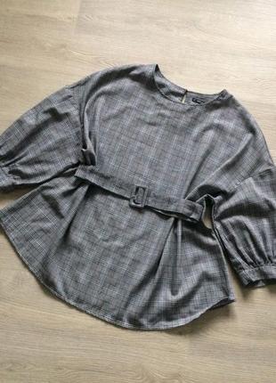Блузка туника хлопок супер батал из shein