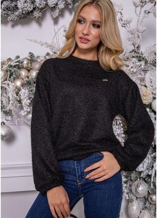 Черный джемпер,свитер оверсайз