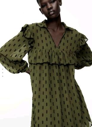 Ярусное платье миди Zara