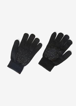 Перчатки с кристалами рукавиці