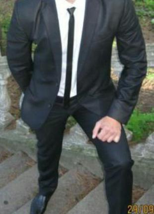 Черный, темно-серый выпускной,свадебный мужской костюм. брюки ...