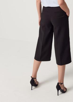 Черные кюлоты с поясом mohito широкие укороченные брюки длинны...