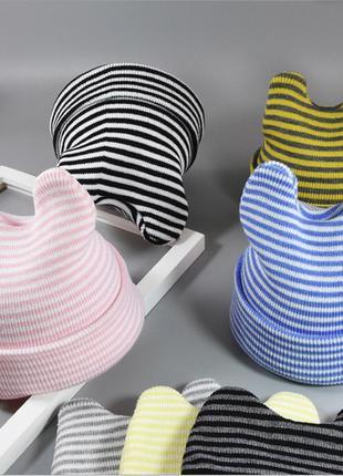 ✍🏻 яркие весенние шапочки на малышей