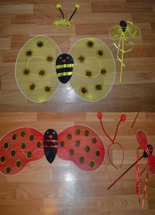 Крылья пчелка, набор, костюм пчелка, шмель, божья коровка, кос...