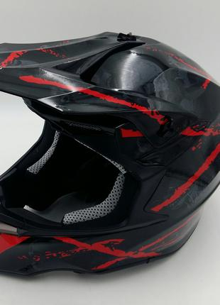 Шлем кроссовый Exdrive OFF ROAD EX-806 черно/красный глянец