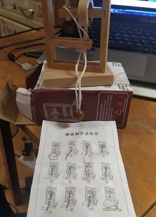 Большая деревянная китайская головоломка 2