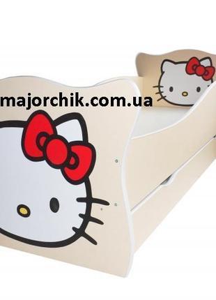 Детская кровать Hello Kitty Хелло Китти кошечка щенок тигренок сл