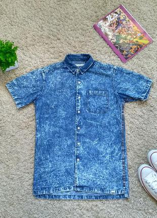 Мужская джинсовая рубашка-шведка fabric, унисекс