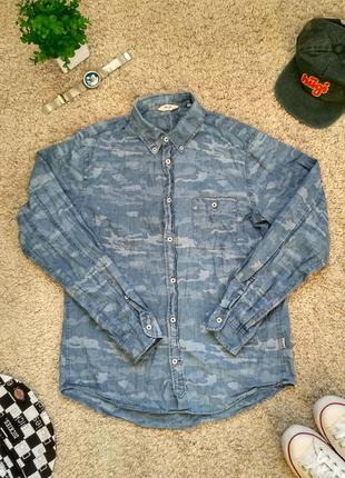 Джинсовая камуфляжная рубашка nn 07