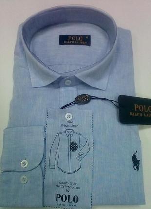 Мужская льняная рубашка polo ralph lauren
