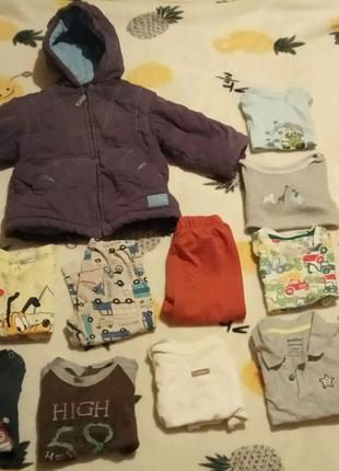 Большой пакет вещей  (13 вещей) для мальчика на рост 74-86 см