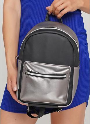 Женский рюкзак sambag talari mssp сочетание черного с металликом
