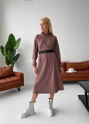 Стильное платье-худи