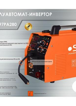 Сварочный инверторный полуавтомат Sturm AW97PA280