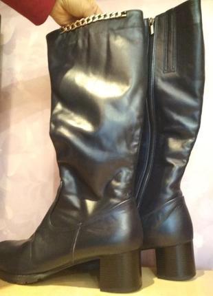 Зимние сапоги 43 р кожаные большого размера